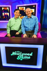 "First-ever same-sex couple, George Takei and Brad Altman on ""The Newlywed Game""."