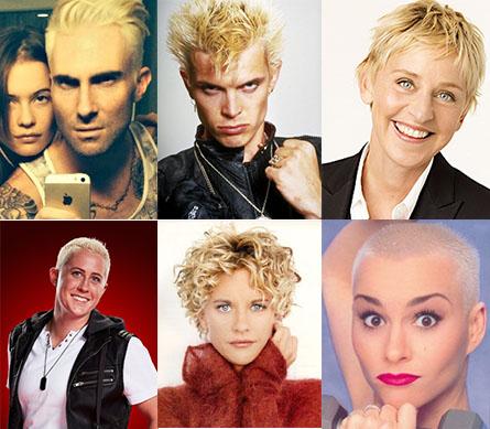 The Voice Adam Levine blond