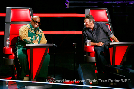 Pictured (l-r): Cee Lo Green, Blake Shelton