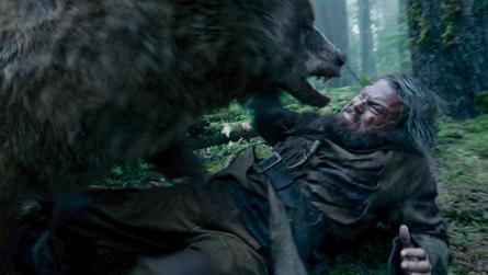 The Revenant bear attack scene