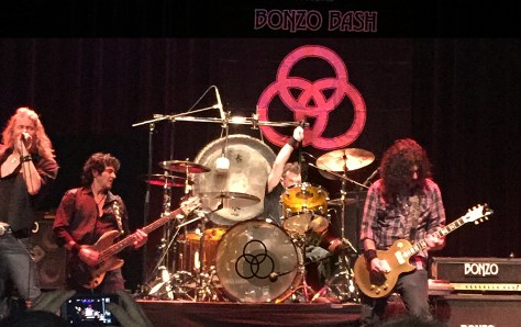 Lucky playing drums at the BONZO BASH. Photo by Karen Sotolo Feeney