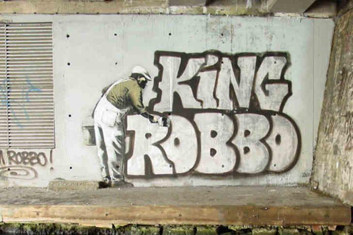 グラフィティ戦争:キング・ロボVSバンクシー
