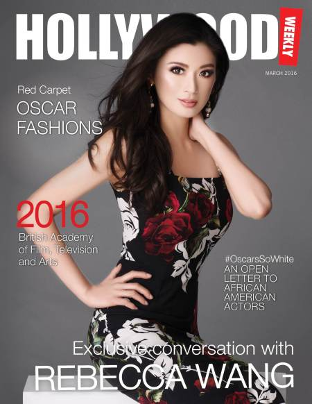 Ms. Rebecca Wang graces the cover of Hollywood Weekly Magazine.