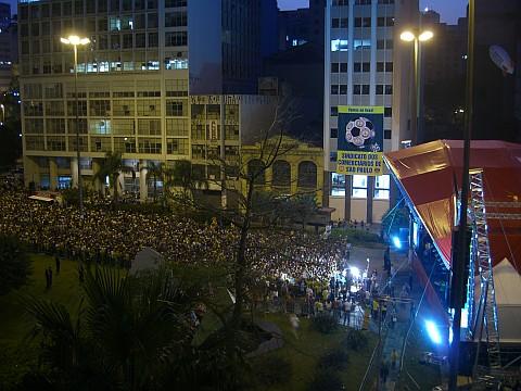 Copa do Mundo de Futebol no Vale de Anhangabaú - 22/06/2006