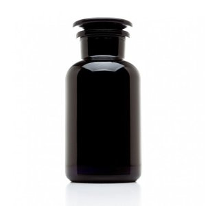 500ML Miron Violet Glass Apothecary Jar - Black jar