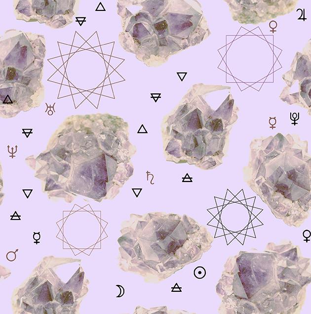 motif textile cristaux
