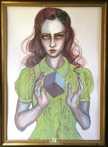 "Aquarelle ""Dahlia Cube"""