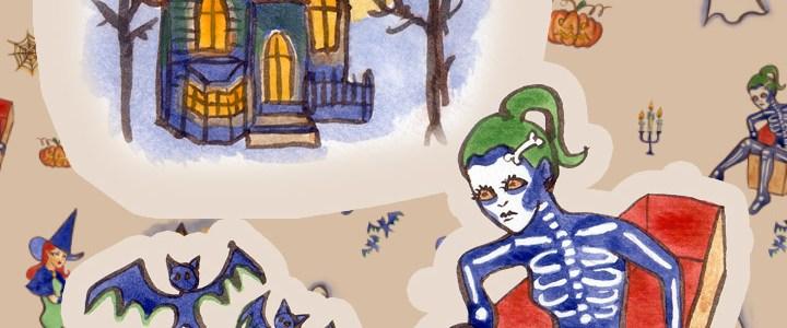 Halloween wallpaper + freebie