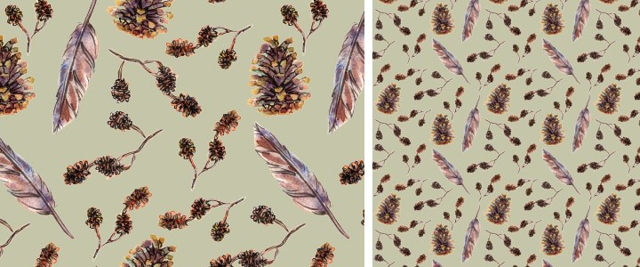 Surface pattern design – Automne