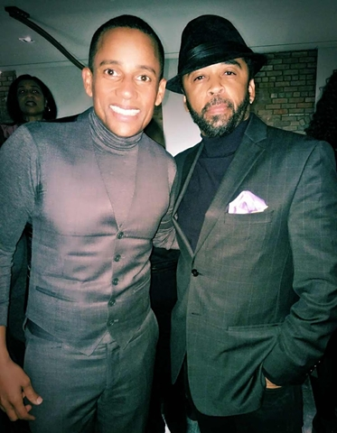 Hill Harper with HOMBRE Magazine's Francisco Romeo