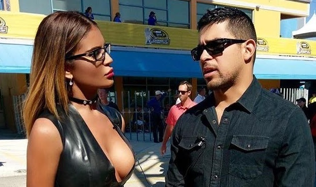 Jazmin Ivy Rodriguez interviews Wilmer Valderrama at NASCAR, exclusively for HOMBRE Magazine
