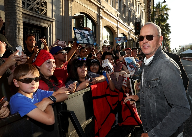HOLLYWOOD, CA - JUNE 28: Michael Keaton attends the World Premiere of 'Spider-Man: Homecoming' hosted by Audi at TCL Chinese Theatre on June 28, 2017 in Hollywood, California. (Photo by Rich Polk/Getty Images for Audi)