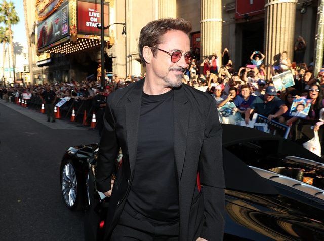 HOLLYWOOD, CA - JUNE 28: Robert Downey Jr. attends the World Premiere of 'Spider-Man: Homecoming' hosted by Audi at TCL Chinese Theatre on June 28, 2017 in Hollywood, California. (Photo by Rich Polk/Getty Images for Audi)
