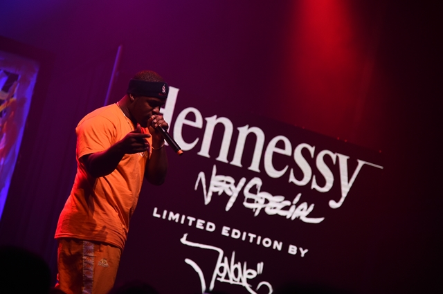 Hennessy launch party for JonOne Limited Edition bottle design - for HOMBRE Magazine 12 A$AP FERG (Copy)