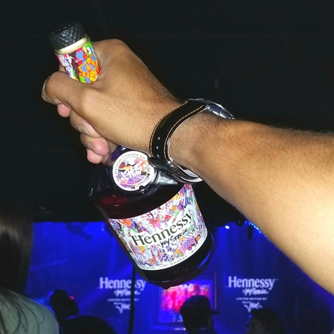 Hennessy launch party for JonOne Limited Edition bottle design - for HOMBRE Magazine 8