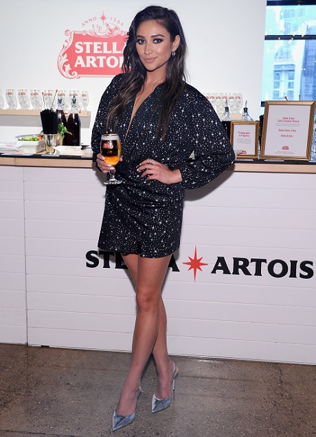 "Shay Mitchell and Stella Artois ""Host One to Remember"" this summer at the Stella Artois Braderie in New York City at the Stella Artois Braderie in New York City on June 6, 2017"