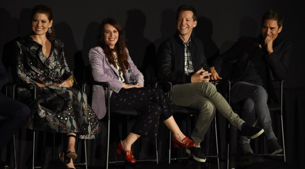 NEW YORK, NY - SEPTEMBER 23:  (L-R) Debra Messing, Megan Mullally, Sean Hayes and Eric McCormack attend the Tribeca TV Festival exclusive celebration for Will & Grace at Cinepolis Chelsea on September 23, 2017 in New York City.  (Photo by Nicholas Hunt/Getty Images for Tribeca TV Festival)