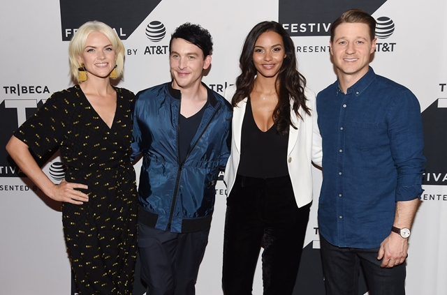(L-R) Erin Richards, Robin Lord Taylor, Jessica Lucas and Ben McKenzie attend the Tribeca TV Festival sneak peek of Gotham
