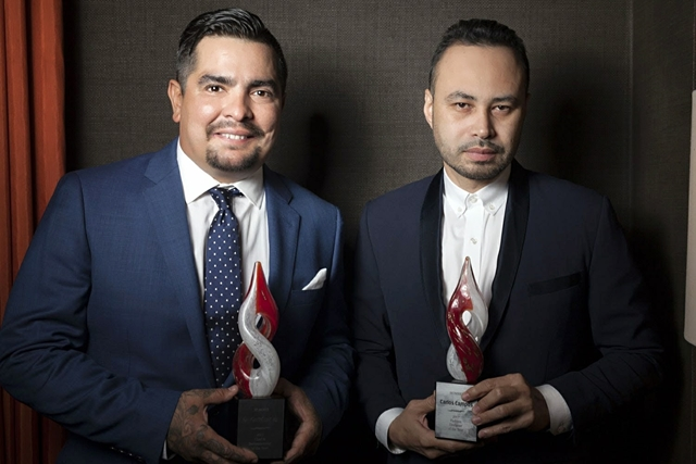 Honorees Aaron Sanchez and Carlos Campos