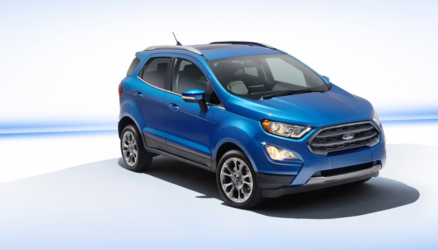 All-new Ford EcoSport comes in four trim levels including S, SE, SES and Titanium (pictured). Each offers a features package for every driver preference.