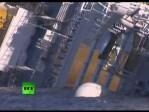El crucero Costa Concordia, naufragado