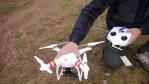 Un dron volando sobre León