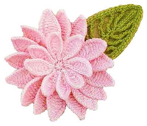 Цветок лотоса крючком