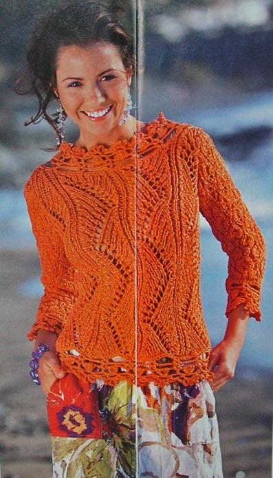 узорный пуловер