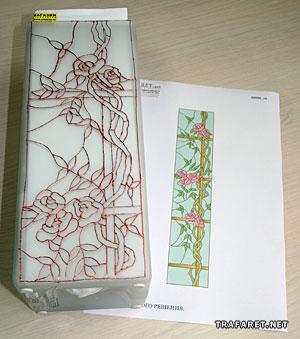 стекло образцы рисунка на