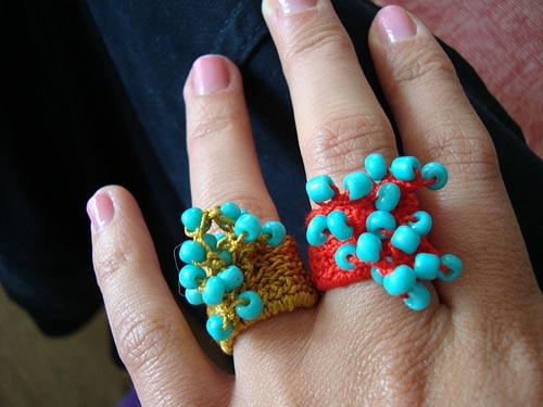 украшение бижутерия перстень крючком