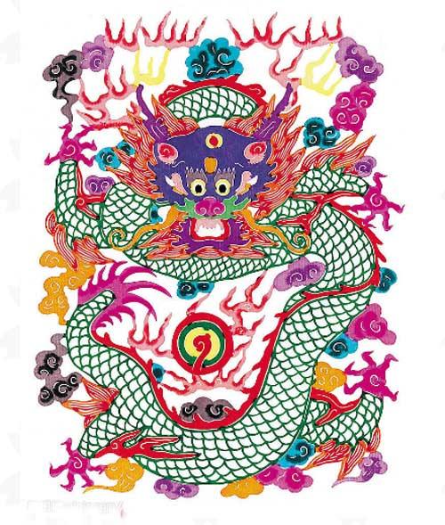 китайские рисунки дракон1