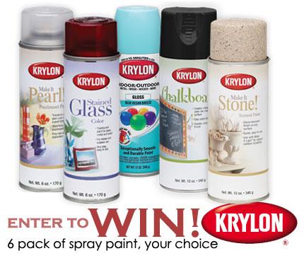 giveaway 6 pack krylon spray paint 2 home and garden. Black Bedroom Furniture Sets. Home Design Ideas