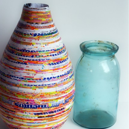 Coiled Wrapper Vase
