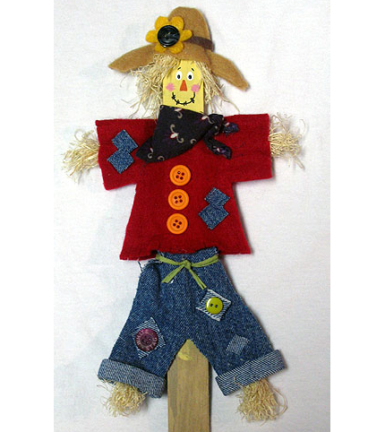 Paint Stick Scarecrow