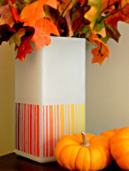 Fall Leaf Inspired Ombre Lamp