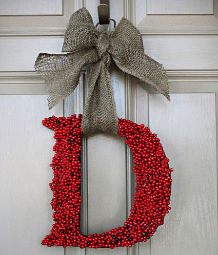 Monogram Berry Wreath