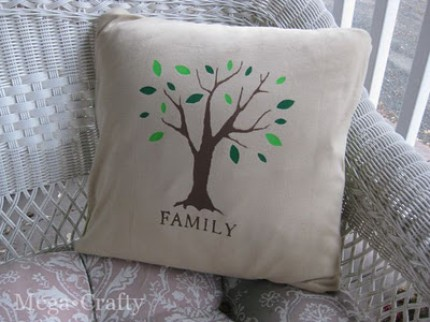 Customizable Family Tree Pillow