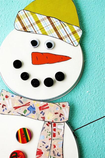 Magnetic Snowman