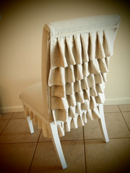 Ruffle Back Chair Redo