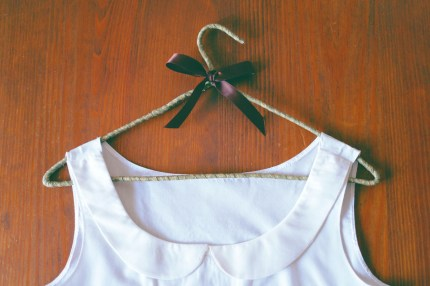 DIY Fabric Wrapped Hangers