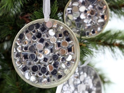 Rhinestone Recycled Ornament