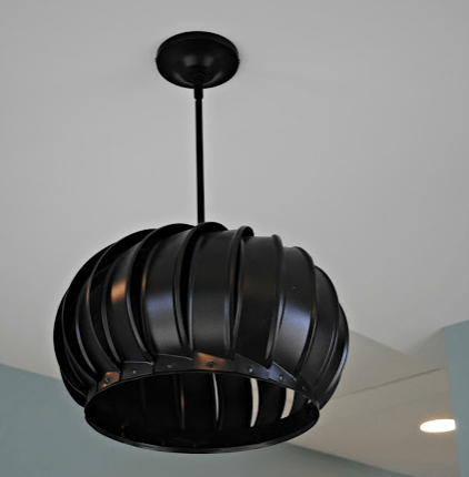 Wind Turbine Light Fixture