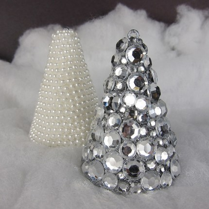 Jeweled and Pearled Christmas Trees