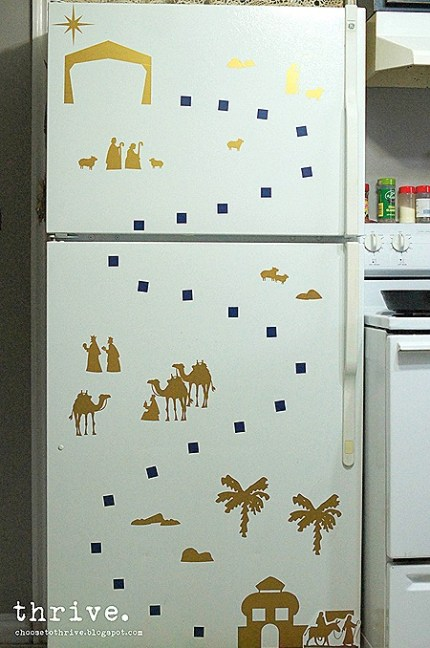 Diy Refrigerator Calendar : Christmas refrigerator advent home and garden