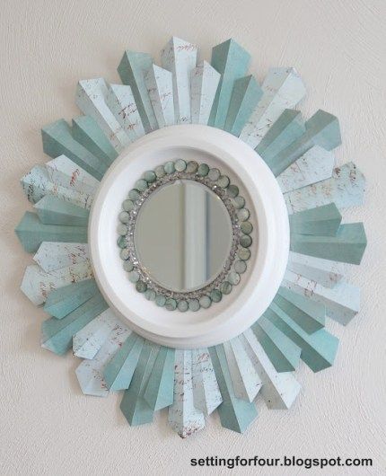 Beaded Sunburst Mirror
