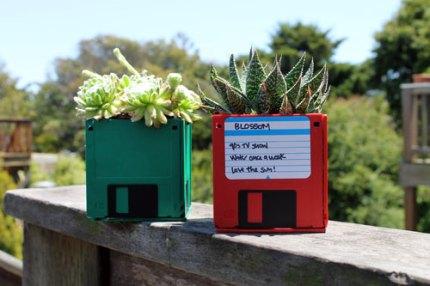 Floppy Disk Planters