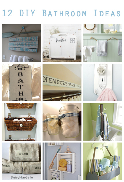 12 Diy Bathroom Ideas Home And Garden