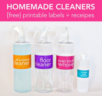 Spring Cleaning 101: Cleaning Tips, Homemade Recipes and Free Printable Labels @craftgossip
