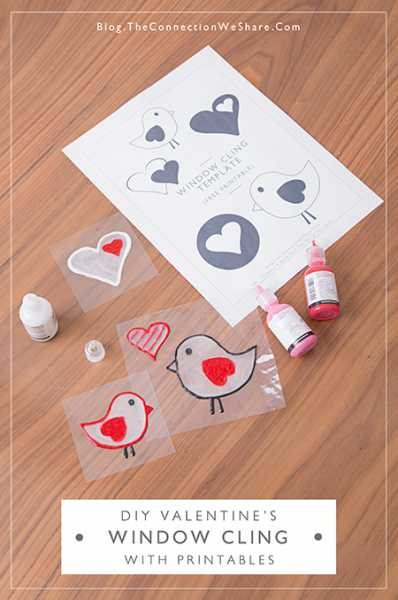 Cute Valentine Idea: Window Clings With Free Printables