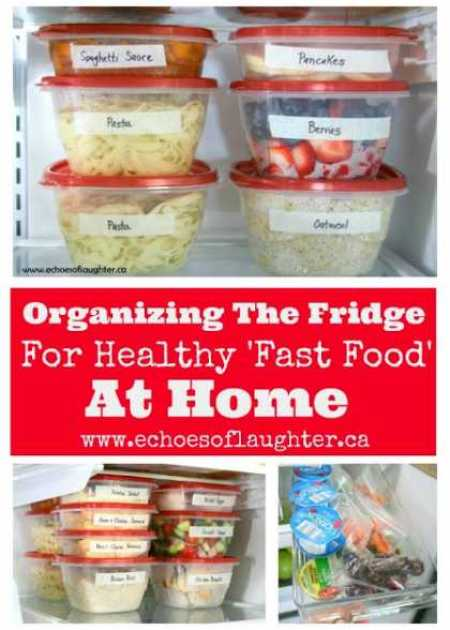 Organizing Healthy Fast Food At Home